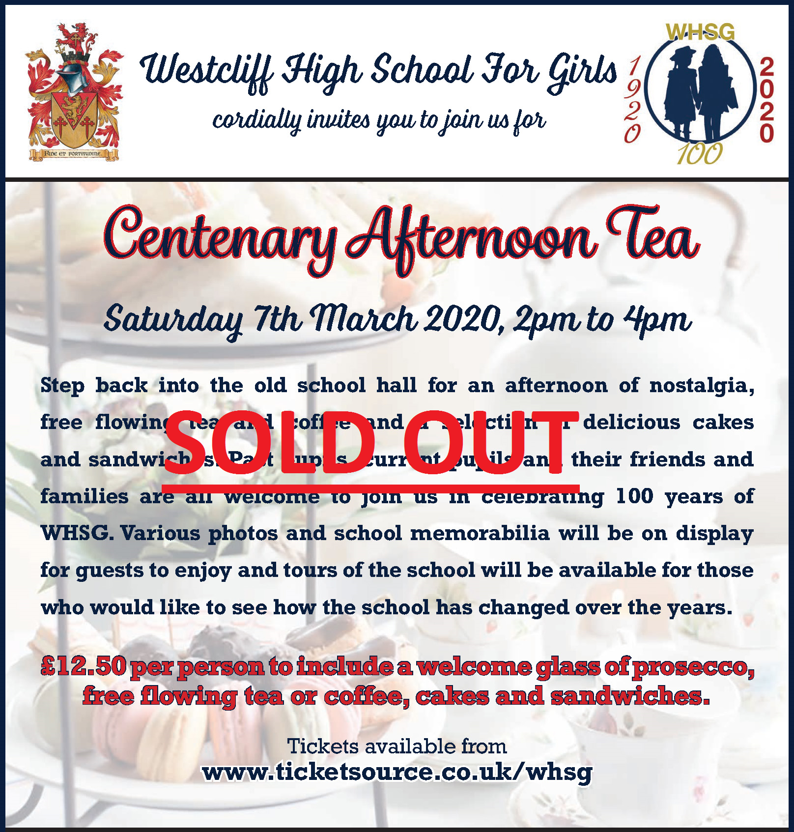Centenary Afternoon SOLD OUT