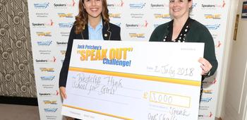 Erin Stoner, WINNER of the Jack Petchey Speak Out Challenge 2018