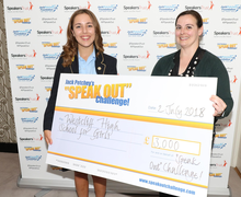 Erin and big cheque