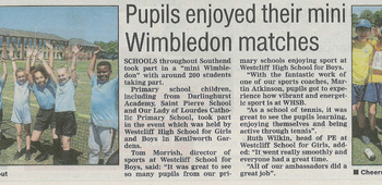 WHSG Hosts 'Mini Wimbledon' For Southend Primary Schools
