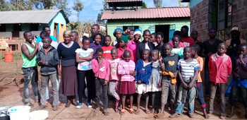 Shirel visits Kenya and donates the money she raised at WHSG
