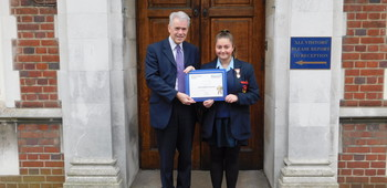 Jack Petchey September Winner Gabriella Rockenbach