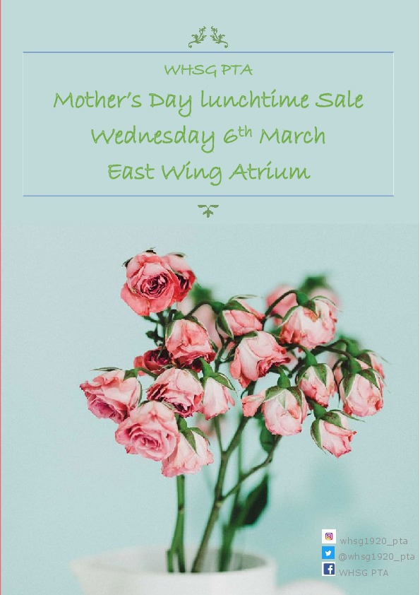 WHSG PTA Mothers Day Sale