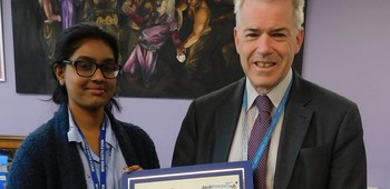 Jack Petchey February 2019 Winner - Shiloh Kuchipudi