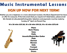 Musical Instrument Lessons Summer 2019