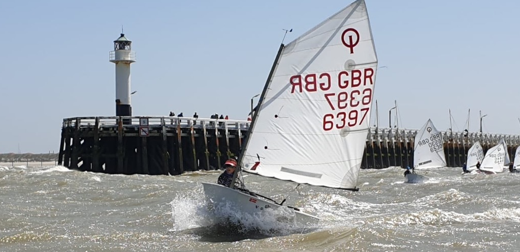 Felicity Brelliford, 9.5, Finishes 1st British Female in the Gold Fleet at the Nieuwpoortweek Youth Week