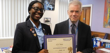 November 2019 Jack Petchey Winner!