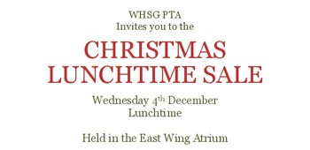WHSG PTA Christmas Lunchtime Sale